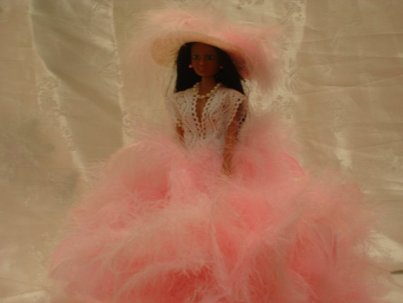 """Barbie Doll/Feather doll/Feathers/ 12"""" Doll"""