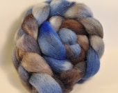 Cheviot wool top, 4 oz. Billy-blues and greys,