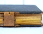 Antique leather photo album with photographs, electric light photo gallery, photographers association of america