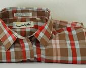 Vintage Diane Von Furstenberg, Plaid Button Down Shirt, Vintage Plaid Shirt, Vintage Von Furstenberg Shirt, Designer Shirt, Plaid Shirt,