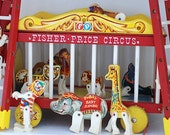 Vintage FISHER PRICE CIRCUS - 900, 1960's Children's Toy, Midcentury Children's Gift, Circus Collectable, Home Decor