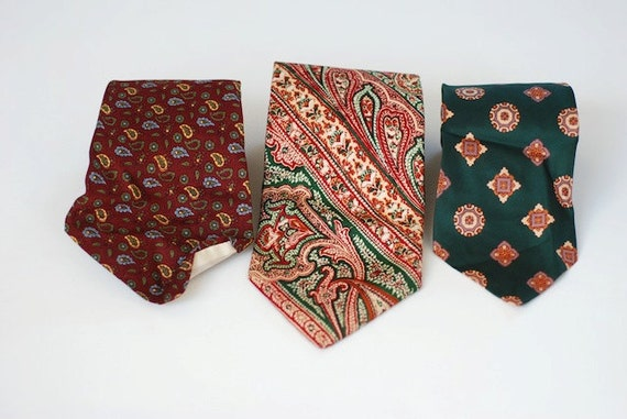 Vintage Silk Ties, Mad Med Designs, Dad Gift From Daughter, Fathers Day Gift From Children, Vintage  Neckties, Lot of Silk Ties