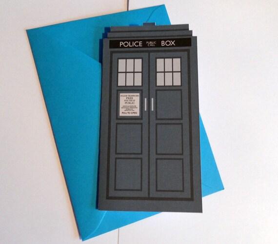 Police box greetings card