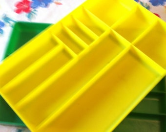 Bright Yellow Kitchen Utensil Tray