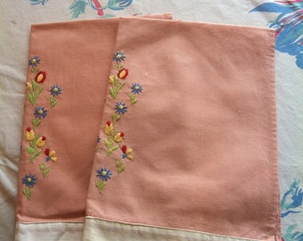 Peach Tea Towels