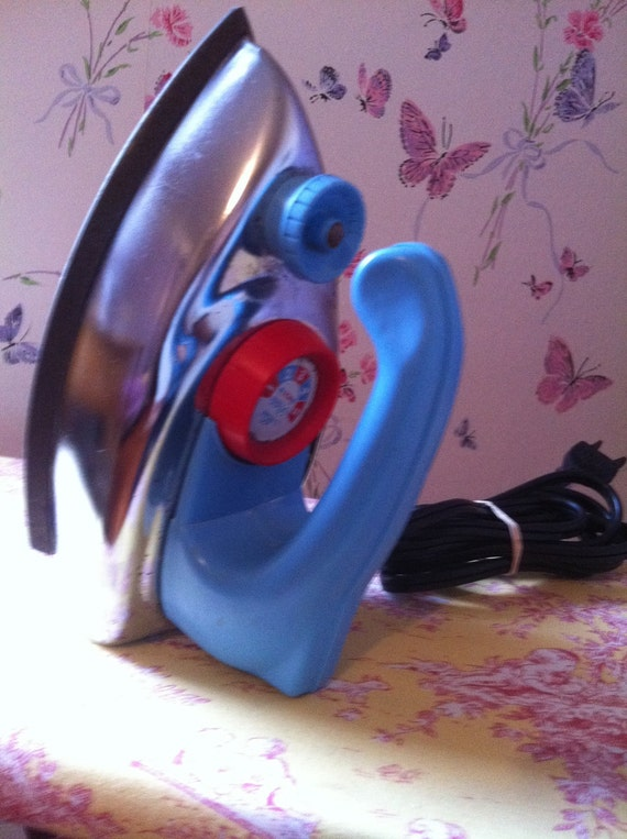 Baby Blue Childs Toy Iron