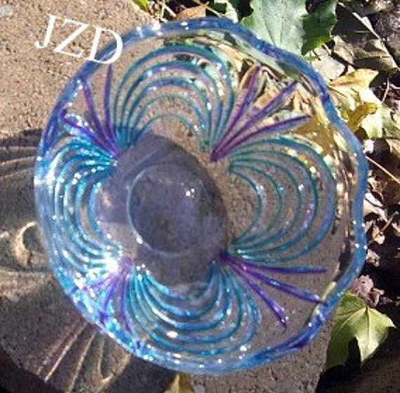 Vintage Old Bowl Made Bright & Beautiful A Wonderful Upcycled Cut Glass Piece