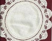 Linen center 9 inch doiley