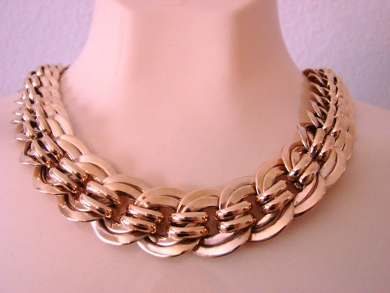 Wide CHUNKY 80s GP Multiple Link Necklace