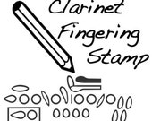 Clarinet Fingering Rubber Stamp -    Unique gadget for musicians