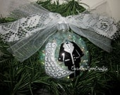 Bride and Groom Christmas Ornament / Our First Christmas