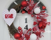 "Valentines ""Love"" Grapevine Wreath"