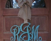 A PAIR of Wooden Family or Individual Initial Monogram Door Decor - TWO monograms