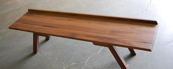 SALE - modern walnut bench