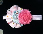 Baby / Girls Headband from Mudan Spring Friends Shabby Rose Hair Accessory