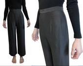 Vintage Giorgio Armani // Silky Dress Pants // High Waist Wide Leg // Size 38 XS-Small