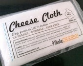 Cheese Cloth - 2 yards -Re-usable, washable and durable