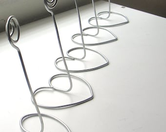 Wedding Silver Table number holders - SAMPLE LISTING