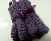 Reserved for Mamapie - Purple Crochet Curlers