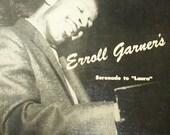Vintage Erroll Garner Vinyl Record, Serenade to Laura, Jazz Pianist
