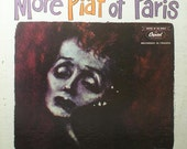 More Piaf of Paris, Vintage Vinyl Record, Sung in French