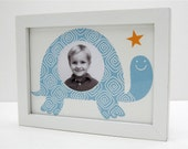"5""X 7"" Diamond Turtle Print with 2.5"" Circle Photo Window"