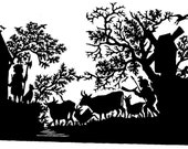 Handmade Paper Cut Silhouettes Paper cutting Cow