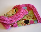 Chenille Burp Cloth Set Circles and Dots