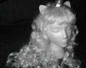 Unicorn wig Unicorn Costume White Wig Silver Horn Long Curly My Little Pony Cosplay  Amalthea The Last Unicorn