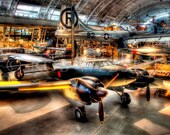 Air and Space 1: Planes in HDR, 8X10 Fine Art Print