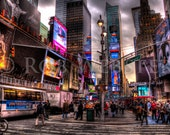 Times Square,  New York City,  num 1, 8x10 HDR Fine Art Photo Print