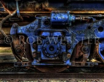Train Wheel, HDR Fine Art Photograph Print,  8x10