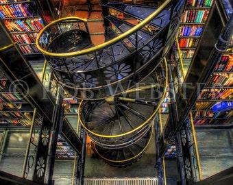 Trans-Allegheny Bookstore 7, HDR  8x10 Fine Art Photo