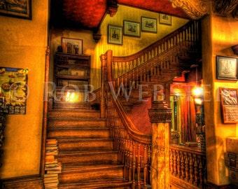 Trans-Allegheny Bookstore  25, HDR  8x10 Fine Art Photo