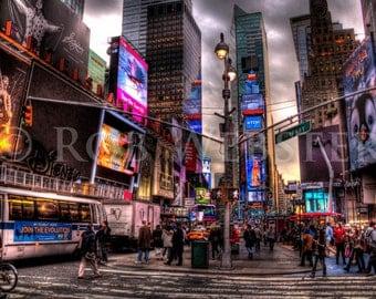 Times Square,  New York City,  num 1, 8x10 HDR Fine Art Photo Print