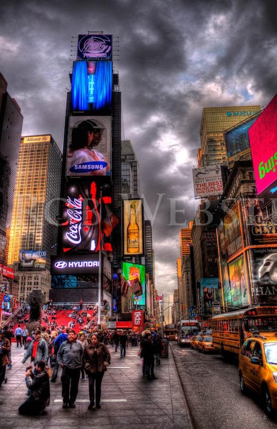 Times Square,  New York City,  num 3, 8x10 HDR Fine Art Photo Print