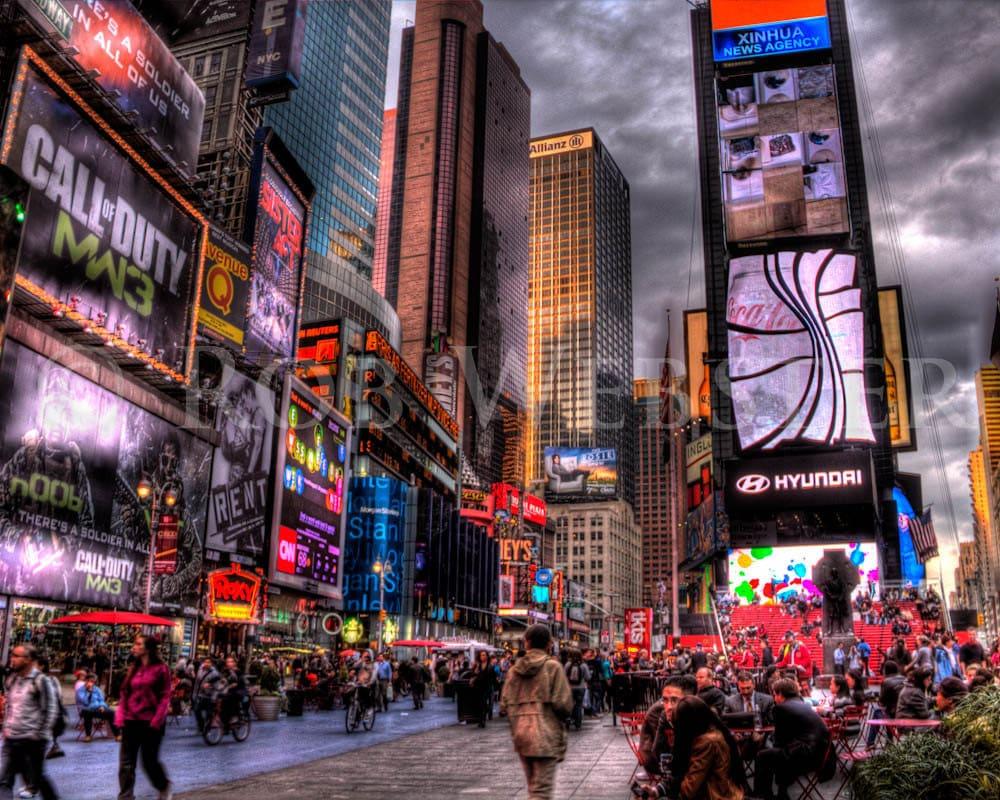 times square new york city num 2 8x10 hdr fine art photo. Black Bedroom Furniture Sets. Home Design Ideas