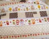 On Sale: A Fat Quarter of Kawaii Japanese Cotton Linen Fabric - Russian Doll Matryoshka (Camel Combo)