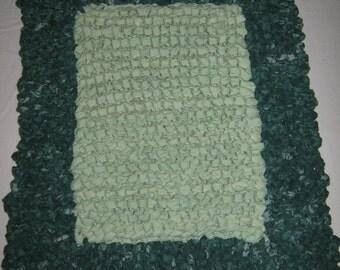 Knitted Rag Rug Etsy