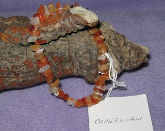 Carnelian - Gemstone Bracelet made with 100% natural gemstones - one size