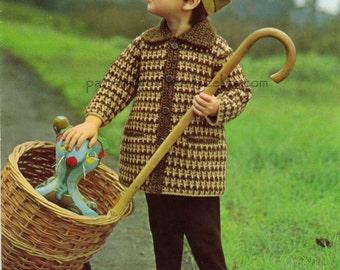 Crochet Coat Pattern Vintage PDF B012 from WonkyZebraBaby
