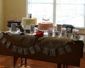 How Sweet It Is - Burlap Table Banner/Pennant/Bunting