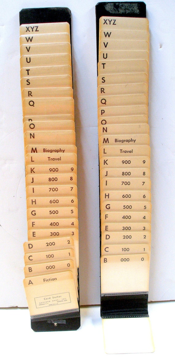 Library Reference Card Holder