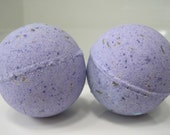 2 Lavender Bath Bombs with Lavender Buds