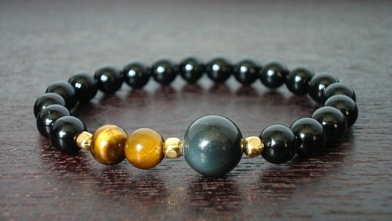 Men S Strength Amp Protection Mala Bracelet Onyx By