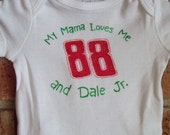 NASCAR Dale Jr Graphic Onesie