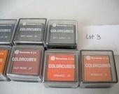 Color Cubes Ink Pads - 7 Colors- (Lot 3)