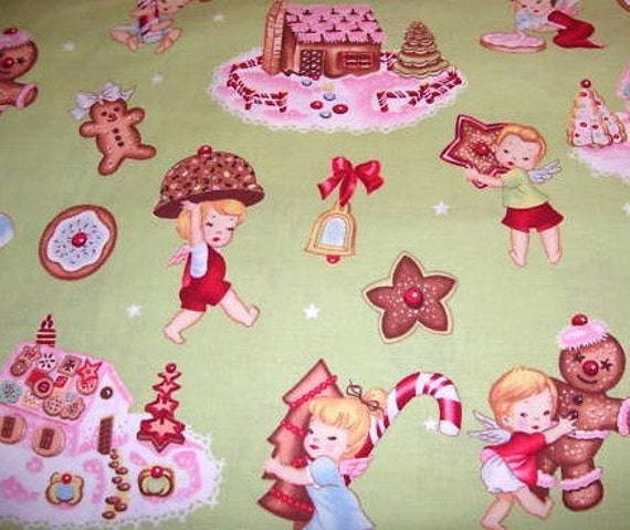 Angel Cakes Christmas Fabric by Alexander Henry  - 1 yard