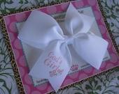 God's Girl 4 Inch Bow Prints Half Pinwheel Hair Bow--Ready to Ship