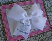 Keep Christ in Christmas 4 Inch Bow Prints Half Pinwheel Bow--Ready to Ship